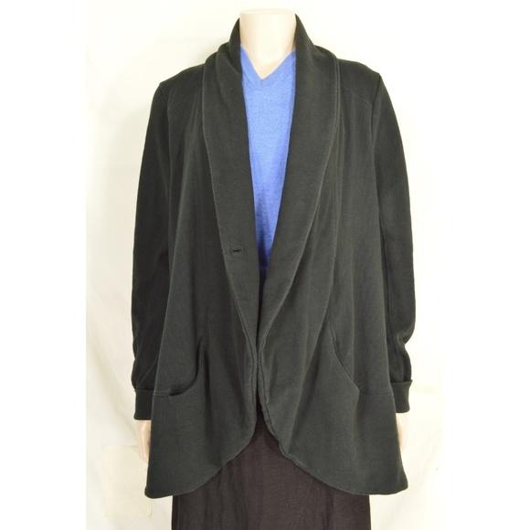 Lucky Brand Jackets & Blazers - Lucky Brand jacket SZ L black long sleeve hi lo po